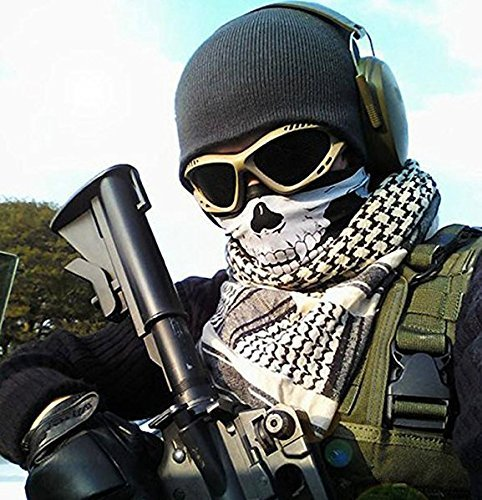 Men's Hats New Skull Mask Skeleton Balaclava Ghost Tactical Military Army Airsoft Breathable Hats Helmet Liner Uv Protection Full Face Mask